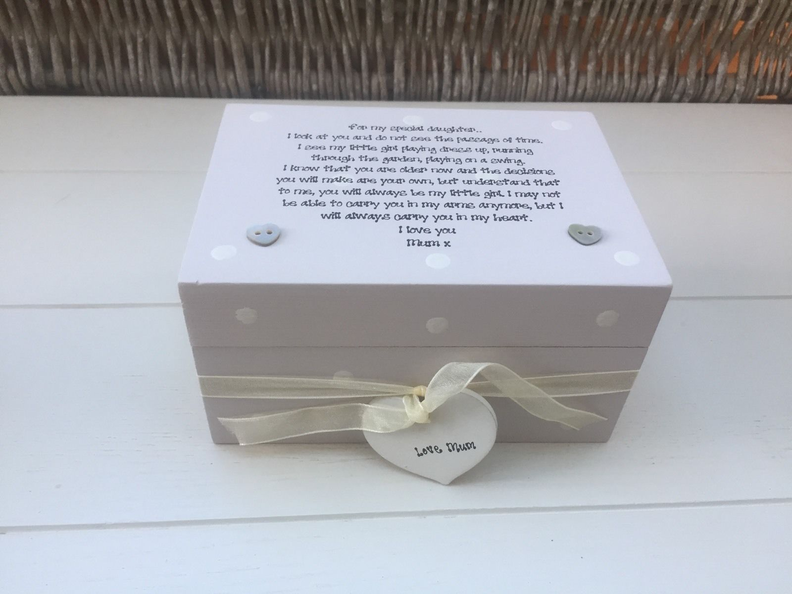 Shabby Personalised Chic Special Daughter Gift From Mum Birthday Present Mom 232212386948 5 16246